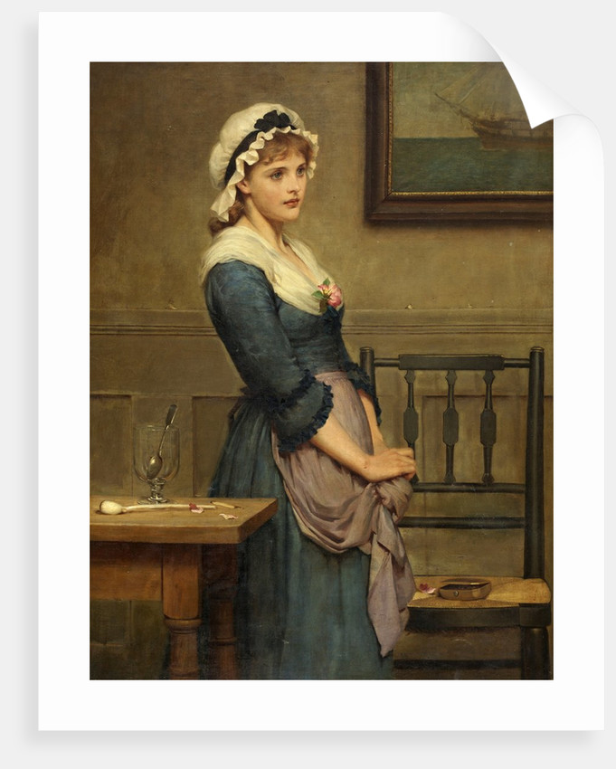Mollie. 'In silence I stood your unkindness to hear...' by George Dunlop Leslie