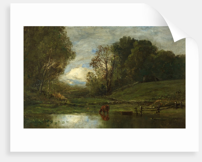 Landscape with Cow by Water by Joseph Jefferson
