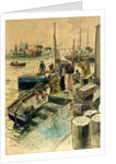Sprat Harvest Poole Quay by Eustace Nash