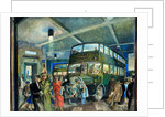 The Darkened Bus Station by Eustace Nash