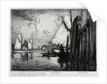 Poole Fishing Boats, Drying Sails by Leslie Moffat Ward