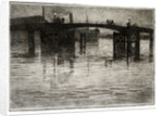 Poole Bridge (Now Destroyed), 1919 by Leslie Moffat Ward