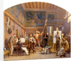 An Artist at Work in his Studio with Model and Other Figures by Carl Werner