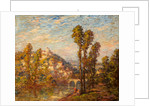 Autumn River Landscape by French School