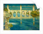 The Great Bridge at Cahors by Joseph Edward Southall