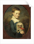 John Franks with Poodle by British School