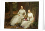 Kathleen and Marianne, Daughters of Samuel Gurney Sheppard, Esq of 'Leggatts', Potters Bar by Louisa Starr Canziani