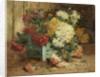 Dahlias in an Urn by Eugene Henri Cauchois