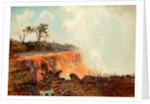 River of Lava Issuing from Mauna Loa and Flowing a Distance of About Thirty Miles to Hilo Across the Island of Hawaii 1880 - 1881 by Charles Ferneaux