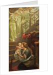 Little one who straight has come Down the heavenly stairs... by Arthur Hughes
