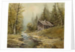 Waxted Landscape with Hut by J. Kugler