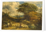 Driving Sheep, Surrey by John Linnell