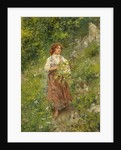 Girl with Flowers by Vincenzo Migliaro