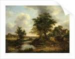 River Scene 1830 by Anonymous