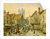 The Bell Inn, Market Place, Ely by Louise Rayner