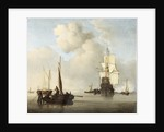Shipping in a Calm by Willem Van de Velde the Younger