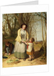 Gathering Primroses by William Frederick Witherington