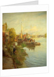 Barges on the Thames by Charles W. Wyllie