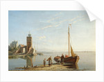 The Lighthouse at Tholen, Zimmer Zee, Holland by William Raymond Dommerson