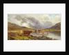 Near Glencoe - LIfting Mist by Louis Bosworth Hurt