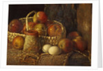 Still Life with Apples - A Few Blenheims by Miss S. Bright
