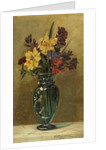 Wallflowers with Daffodils in a Glass Vase by Elizabeth Whitehead