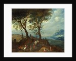 Landscape with Peasant Figures by Pieter Brueghel the Younger