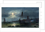Moonrise on the Medway by William Callow