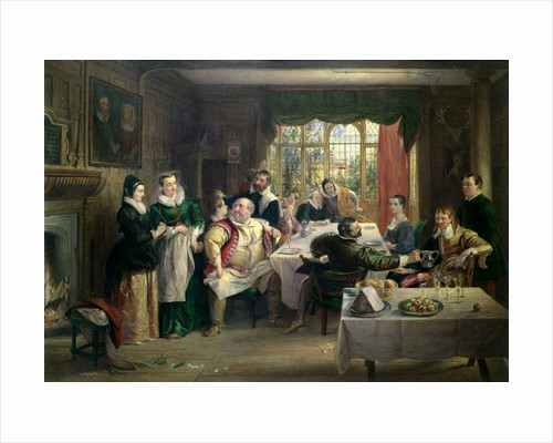 The Merry Wives of Windsor, Act I, Sc. i. A Feast in Page's House by Charles Robert Leslie