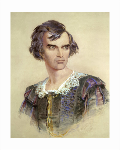 Portrait of Barry Sullivan as Hamlet by Henry O'Shea
