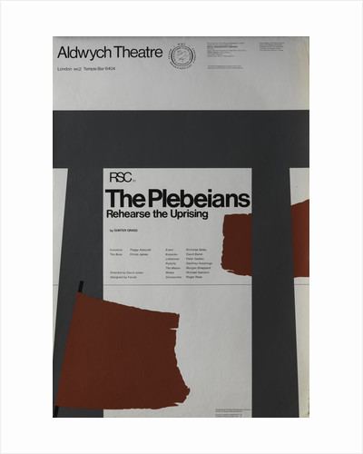 The Plebeians Rehearse the Uprising, 1970 by David Jones
