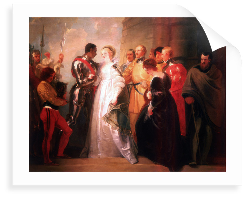 Othello, Act II, Sc. i, The Return of Othello by Thomas Stothard