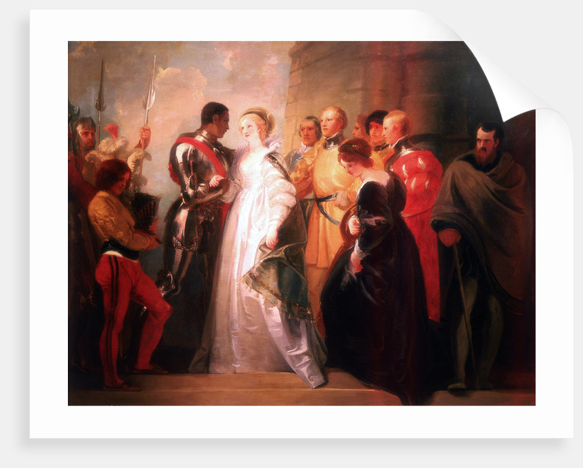 Othello, Act II, Sc. i, The Return of Othello by Thomas Stothard