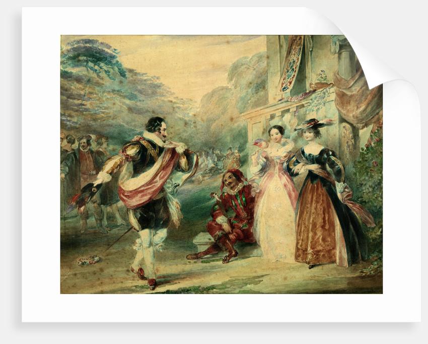 As You Like It, Act I, Sc. ii. A scene by James Stephanoff