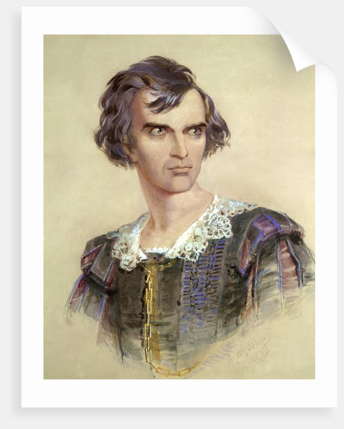 Portrait of Barry Sullivan as Hamlet by Henry O'Shea