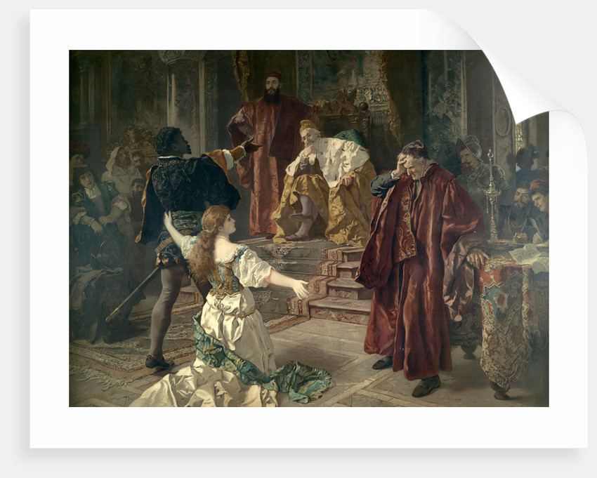 Before the Doge of Venice by Franz Bach