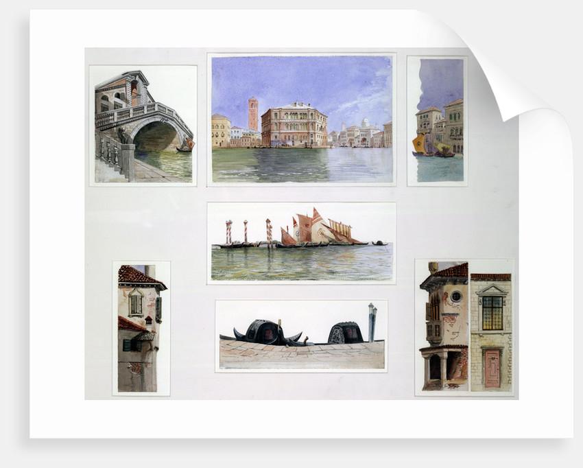 Set design for The Rialto, Merchant of Venice by John O'Connor