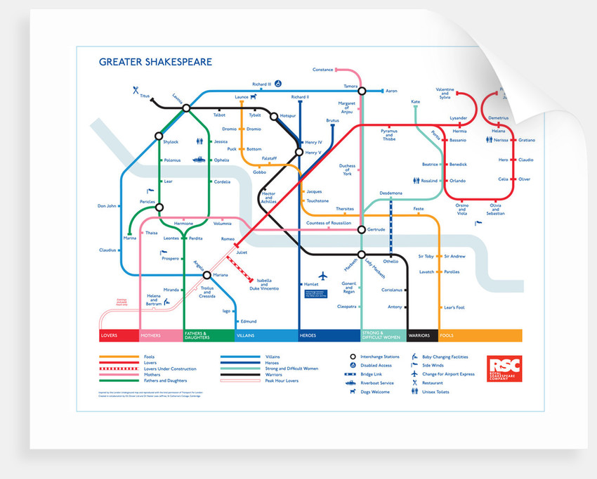 Greater Shakespeare Map poster by Kit Grover