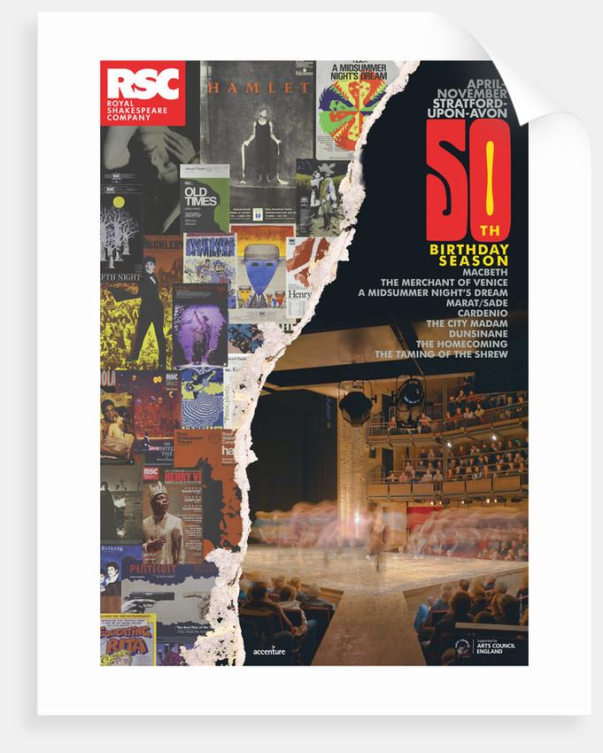 RSC 50th Birthday Season Poster, 2011 by Michael Boyd