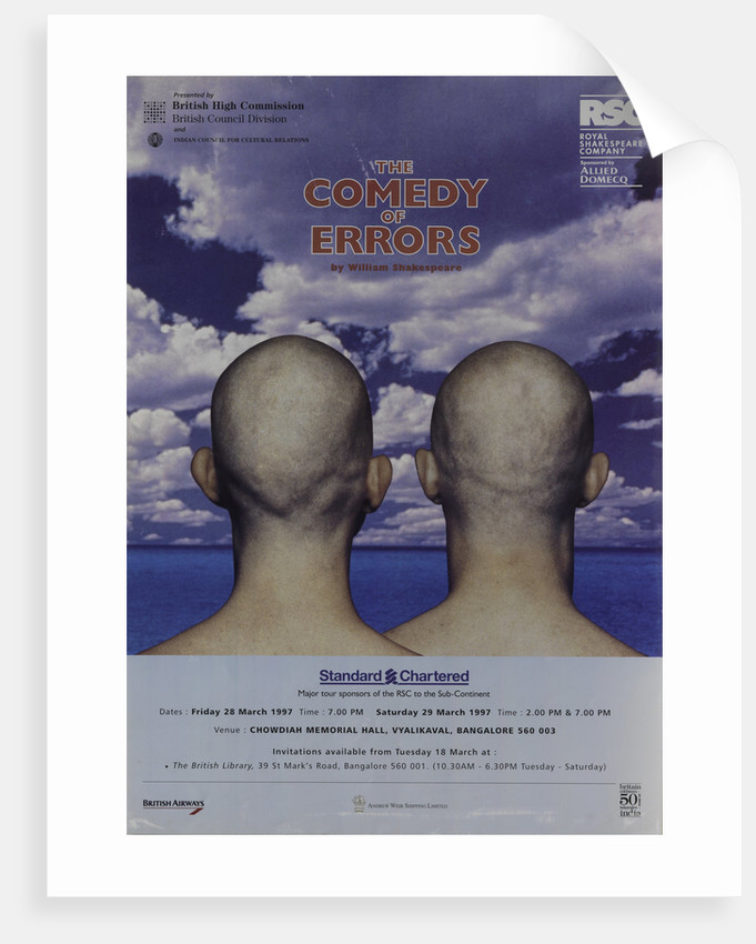 The Comedy of Errors, 1997 by Tim Supple