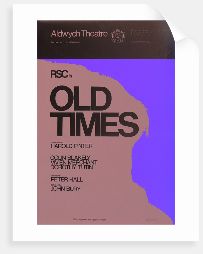Old Times, 1972 by Peter Hall