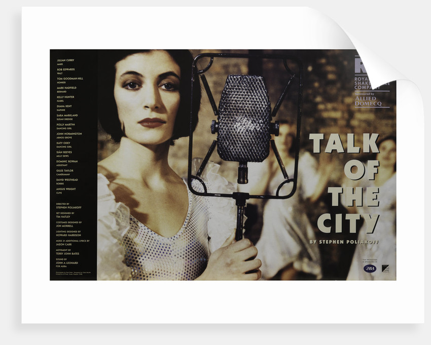 Talk of the City, 1998 by Stephen Poliakoff