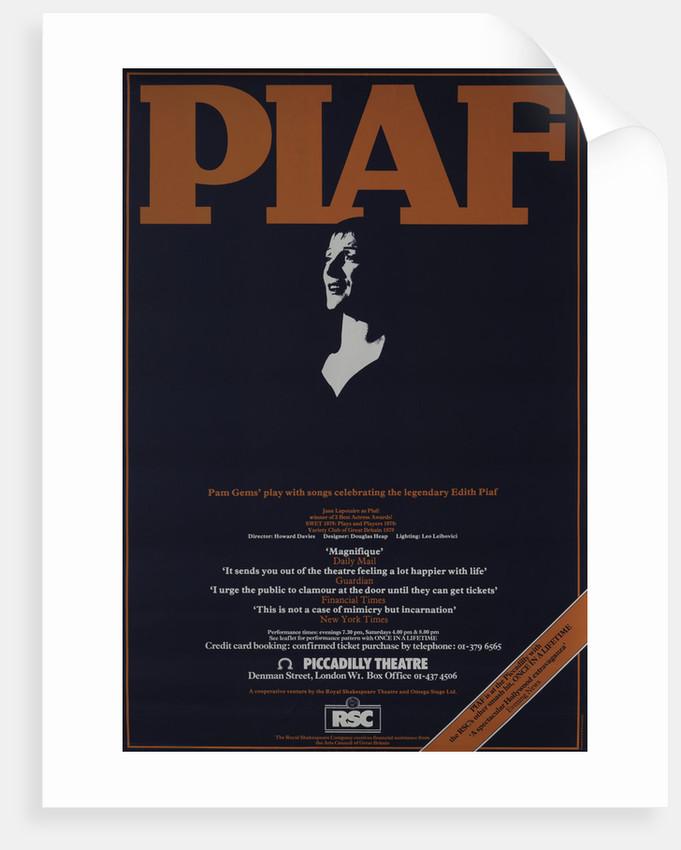Piaf, 1980 by Howard Davies