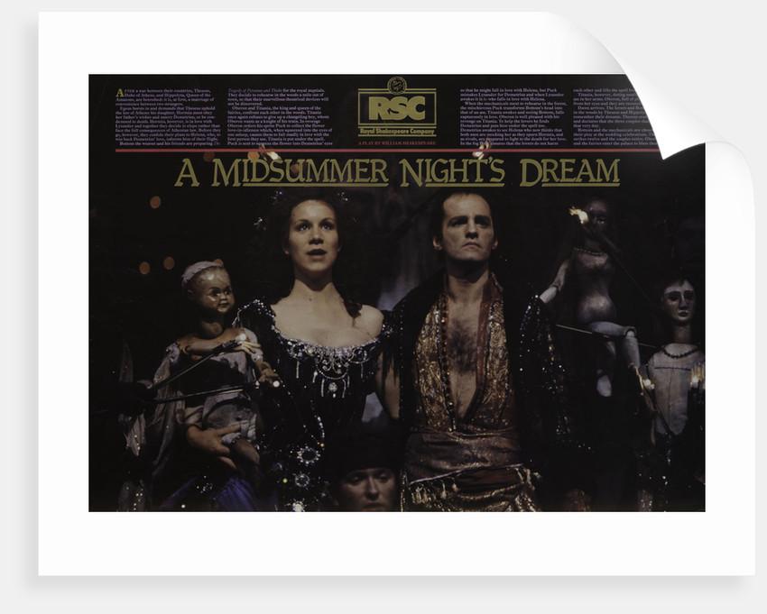 A Midsummer Night's Dream, 1981 by Ron Daniels