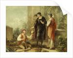 Hamlet, Act V, Sc. i, Churchyard, Hamlet, Horatio and Clown by John Massey Wright