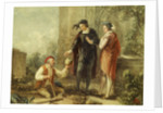 Hamlet, Act V, Sc. i, Churchyard, Hamlet, Horatio and Clown by John Massey Wright