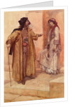 Merchant of Venice, Act II, Sc. v, Shylock and Jessica by Gertrude Demain Hammond