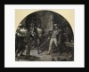 Othello, Act II, Sc. iii, Cyprus, The Citadel: Enter Othello and gentlemen with weapons by Francis Bernard Dicksee