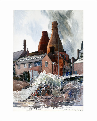 Bottle Ovens, Bluebell Bank, Longton by Reginald Haggar