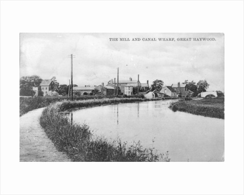 Mill and Canal Wharf, Great Haywood by Anonymous